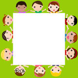 Children and frame Royalty Free Stock Image