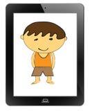 Children of frame. On tablet Stock Photo