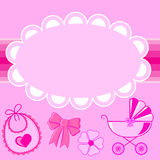 Children frame for a girl at birth. In  EPS Royalty Free Stock Photo
