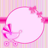 Children frame for a girl at birth. In vector EPS Royalty Free Stock Photography