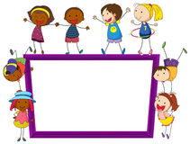 Children and frame Royalty Free Stock Photo