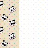 Children frame with pandas Stock Photos
