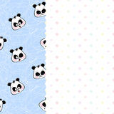 Children frame with pandas and stars Royalty Free Stock Photo