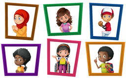 Children and frame Royalty Free Stock Photos