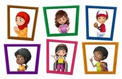 Children in frames Royalty Free Stock Photo