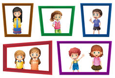 Children and frames Stock Photography