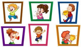 Children and frames Stock Image