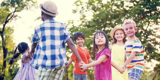 Children Friends Playing Playful Active Concept Stock Image