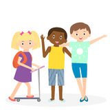 Children friends. Three friends leisure time together. Royalty Free Stock Photos