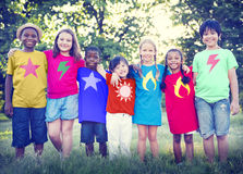 Children Friendship Bonding Happiness Outdoors Concept Royalty Free Stock Image