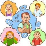 Children Friendship Cartoon Concept Stock Image
