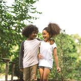 Children Friendship royalty free stock images