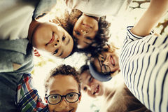 Children Friendship Togetherness Playful Happiness Concept Stock Photos
