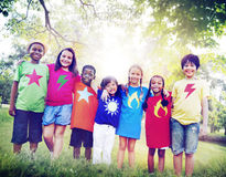 Children Friendship Togetherness Smiling Happiness Royalty Free Stock Photos