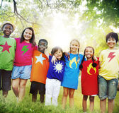 Children Friendship Togetherness Smiling Happiness Stock Photos