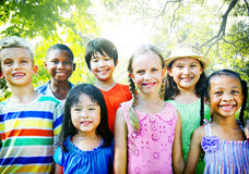 Children Friendship Togetherness Smiling Happiness.  Stock Photography