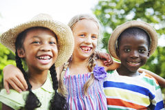 Children Friendship Togetherness Smiling Happiness Royalty Free Stock Images