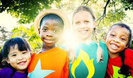 Children Friendship Togetherness Smiling Happiness Concept Royalty Free Stock Image