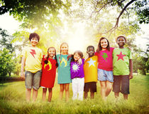Children Friendship Togetherness Smiling Happiness Concept Royalty Free Stock Images