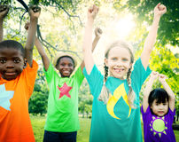 Children Friendship Togetherness Smiling Happiness Concept Royalty Free Stock Photos