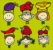 Children and fruits Royalty Free Stock Image