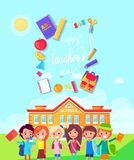 Happy Teachers Day Colorful Vector Illustration vector illustration