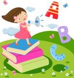 Children and fun english. Illustration art Stock Photos