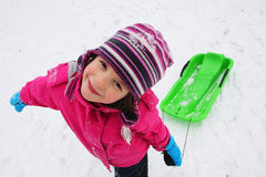 Children fun on the snow Stock Photos
