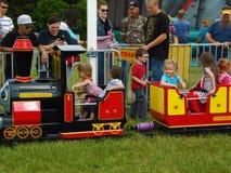 Children on the Fun-time Express Royalty Free Stock Photos