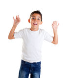 Children with funny gesture open fingers Royalty Free Stock Images