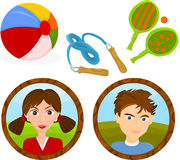 Children Games Royalty Free Stock Photo
