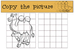 Children games: Copy the picture. Cute camel. Royalty Free Stock Photography