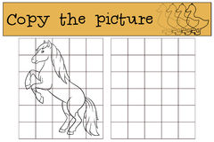 Free Children Games: Copy The Picture. Cute Horse. Royalty Free Stock Images - 74403589