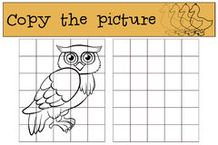Free Children Games: Copy The Picture. Little Cute Owl. Royalty Free Stock Image - 71208366