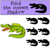 Children games: Find the correct shadow.  Stock Photo