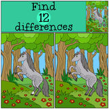 Children games: Find differences. Cute horse. Stock Image