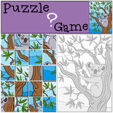 Children games: Puzzle. Little cute koala. Royalty Free Stock Photography