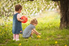 Children in the garden Royalty Free Stock Images