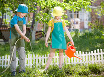 Children gardening Royalty Free Stock Images