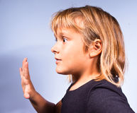Children gestures Royalty Free Stock Photography