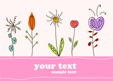 Children gift card flower background Stock Photos