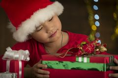 Children are a gift received from Santa Stock Image