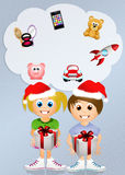 Children with gifts at Christmas Stock Photography