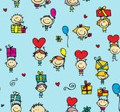 Children with gifts texture Stock Photography