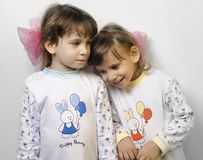 Children girl twins Royalty Free Stock Image