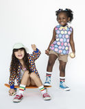 Children Girlfriends Smiling Happiness Friendship Togetherness S Royalty Free Stock Images