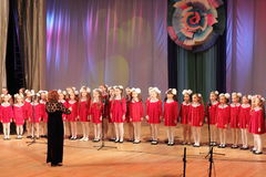 Children Girls Choir Royalty Free Stock Image