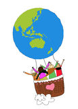 Children and globe Royalty Free Stock Photography