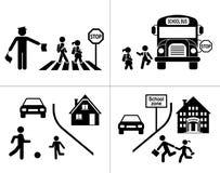 Safety of children in traffic royalty free illustration