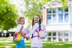 Children going back to school, year start Stock Photos